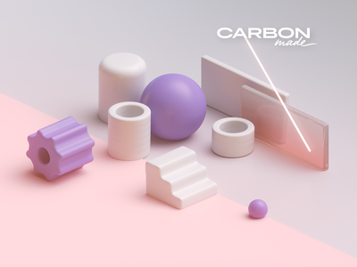 Carbonmade Rendering purple 3d