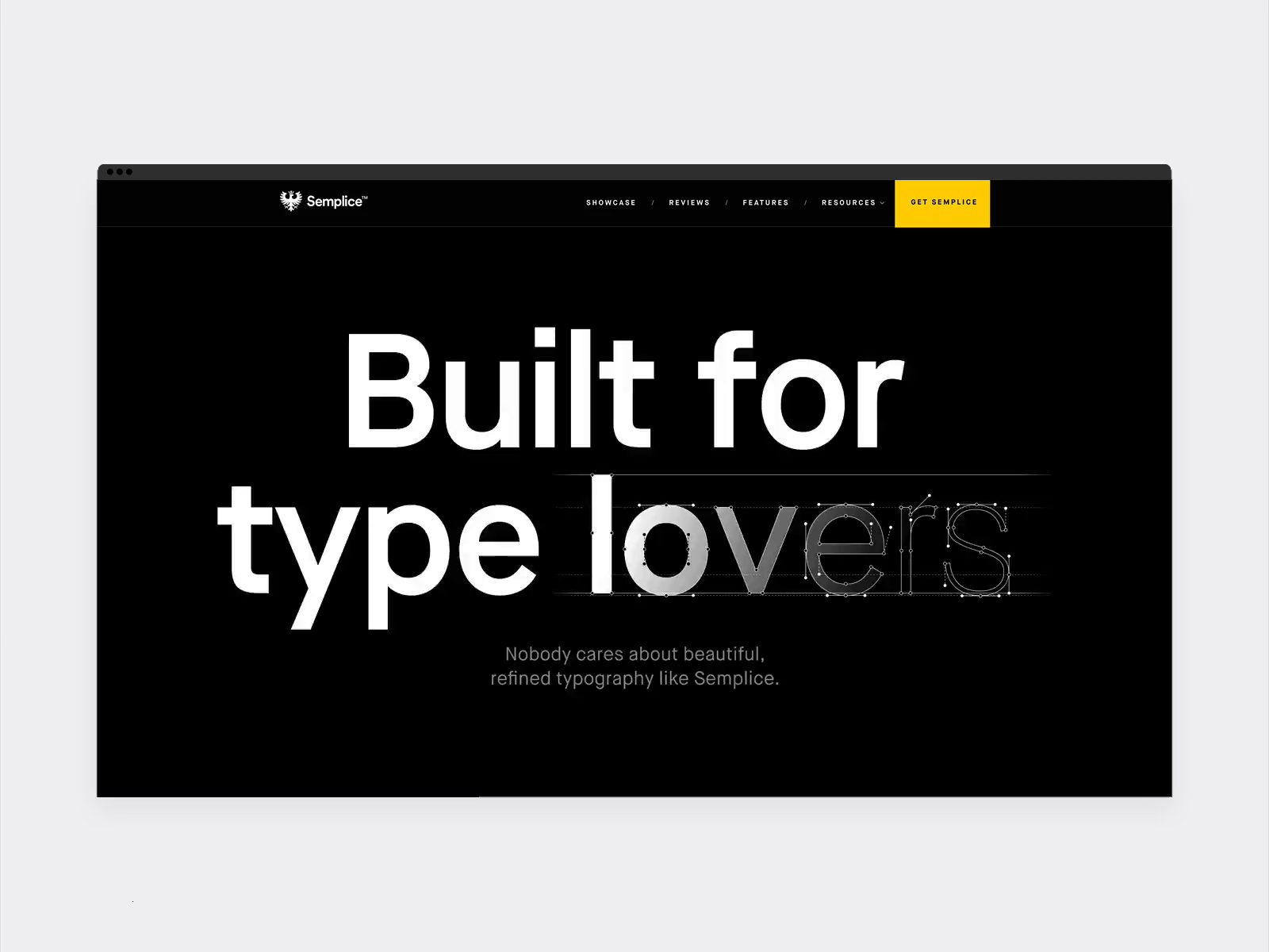 Features for typography lovers