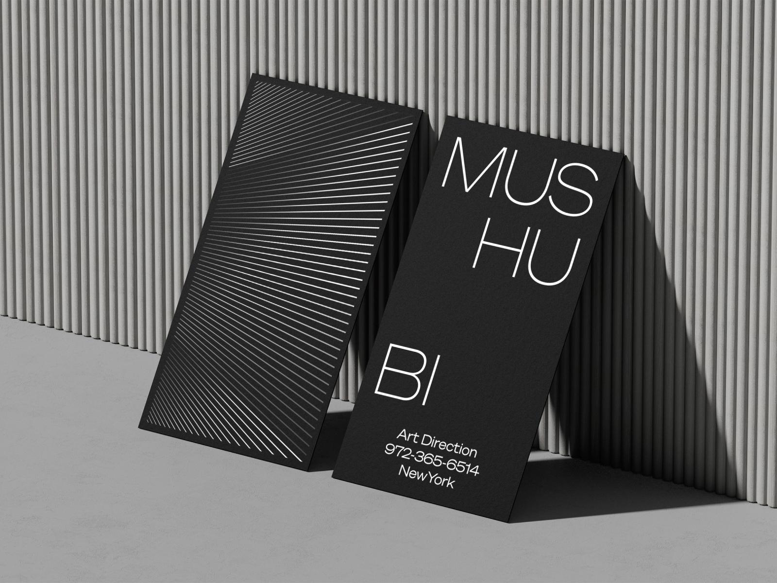 Premium Black business card mockups