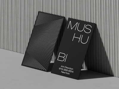 Premium Black business card mockups portfolio print 3d