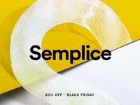 30% off on Semplice for Black Friday