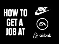 How to get a Design Job at Company X