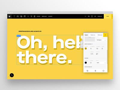 Semplice Typography Dropshadow