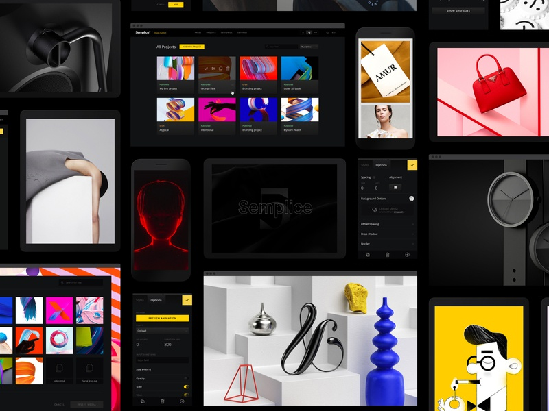 Introducing, Semplice 5! product design illustration website portfolio site portfolio design portfolio