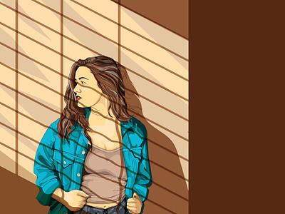 Lady 2 fine art graphic arts vector illustration design