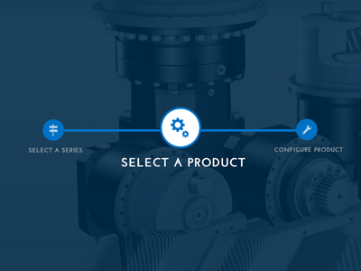 Process Indication process steps icons blue type background image