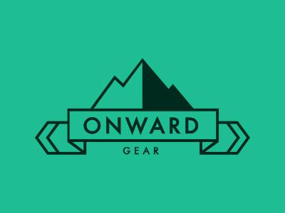 Onward Gear Logo outdoors logo mountain futura clean minimal identity branding
