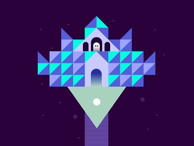 SERO - The Bridge castle building ghost ball geometric character game