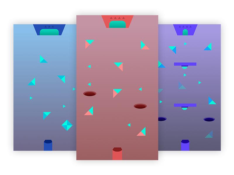 SERO - Level Preview wormholes triangle levels geometric