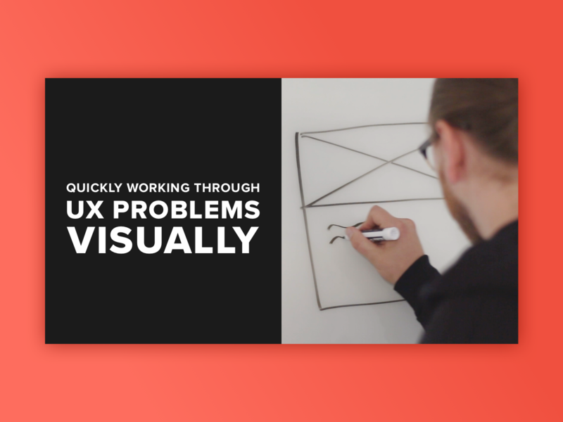 UX Problems Visually whiteboard sketching ui ux