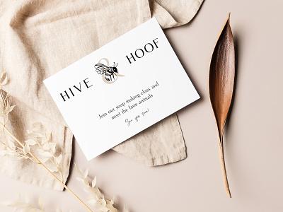 Hive & Hoof Print Materials illustration print design branding