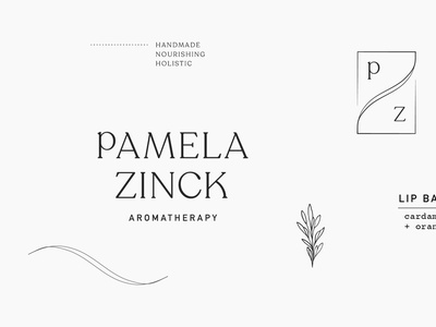 Pamela Zinck Brand typography design logo illustration branding