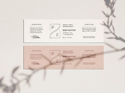 Pamela Zinck Labels print design illustration branding packaging