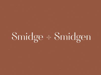 Smidge + Smidgen Brand logo design illustration branding