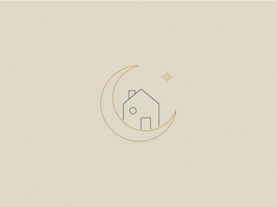 The Home Witch - Mark brand identity organization moon brand mark submark design illustration branding