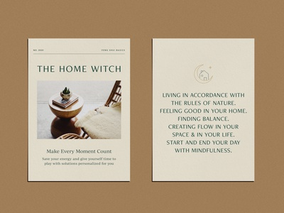 The Home Witch - Feng Shui print design pdf pdf design magic feng shui print illustration branding
