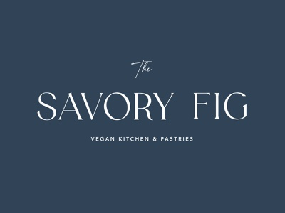 The Savory Fig - Brand brand identity vegan kitchen pastries pastry shop kitchen bakery vegan design illustration branding