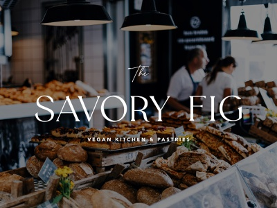 The Savory Fig - Brand bakery brand design brand pastry kitchen vegan long island