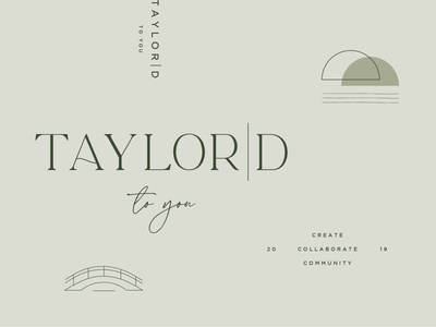 Taylord To You - Logo and Marks bridge brand design consultancy consulting submark logo