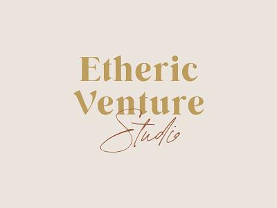Etheric Venture Studio - Logo script studio company startup logo design illustration branding