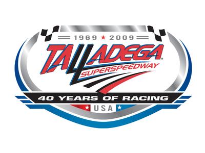 Talladega 40th Anniversary identity brand