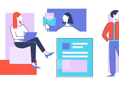 Zenefits Illustrations illustration art illustrations web vector identity animation branding illustration icon icons