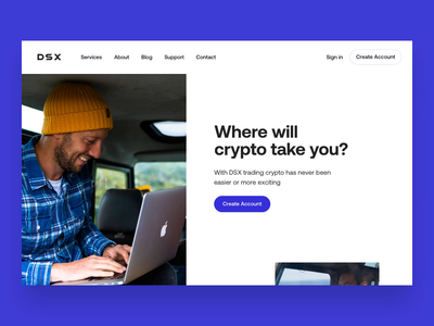 DSX Homepage cryptocurrency fintech responsive website responsive web design responsive design modern clean animation ux ui site design webuiuxdesign webui websites design website design webdesign web design website web
