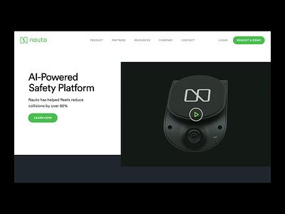 Nauto Homepage web designer startup website startup website design company responsive web design website designer websites website concept webdesign website design web design website