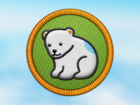 Polar bear cub badge