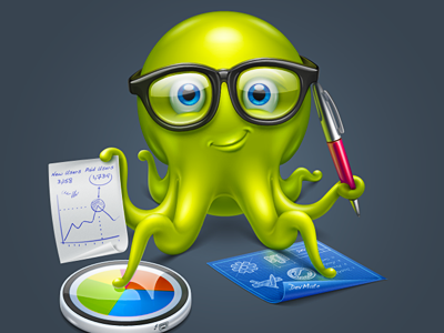 Nerdy octopus for DevMate softfacade icon icons logo identity