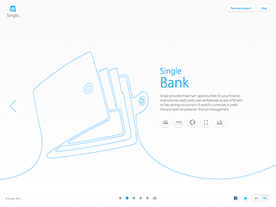 Website for Single Bank softfacade icon icons logo identity interface ui ux user interface