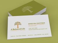 A Balanced Life | Business Card