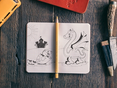 Hatching dragon toons cartoons art sketch doodle