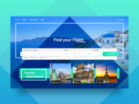 Travel tickets landing page