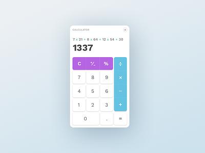 Calculator shadow modern clean widget element ui calculator