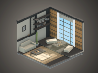30 Days of Isometric Rooms / Day 15