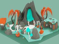 Octane test: Alien Tropic Terrain