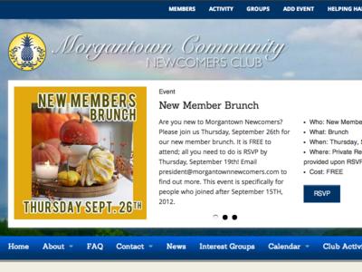 Morgantown Community Newcomers Club membership site buddypress wordpress foundation 4
