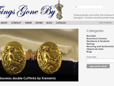 Things Gone By ecommerce wordpress marketpress antique jewelry