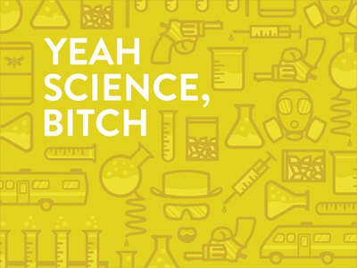 Yeah Science, Bitch illustration icon line icons breaking bad mask beakers gun rv