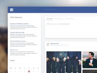 Daily Design 012 - Facebook Feed Redesign Concept