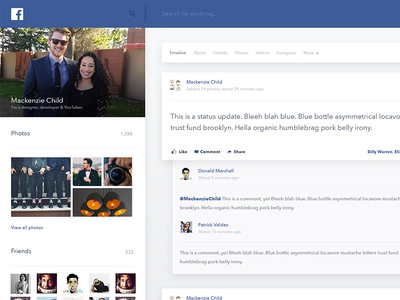 Daily Design 015 - Facebook Profile Page