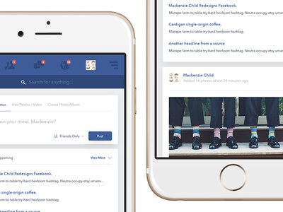 Daily Design 016 - Redesigning the Mobile Facebook Feed