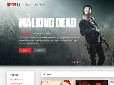 Daily Design 033 - Netflix Dashboard Redesign