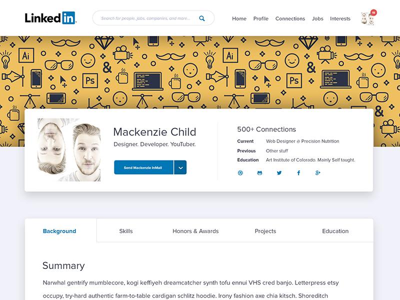 Daily Design 037 - LinkedIn Redesign ux ui redesign linkedin daily ui daily design