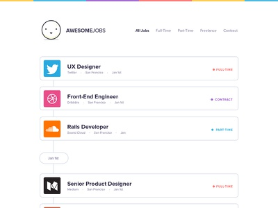 Awesome Jobs - Jobs Board UI Concept jobs board landing page ux ui