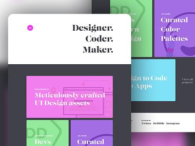 Minimal Portfolio UI tutorial serif projects minimal ui portfolio