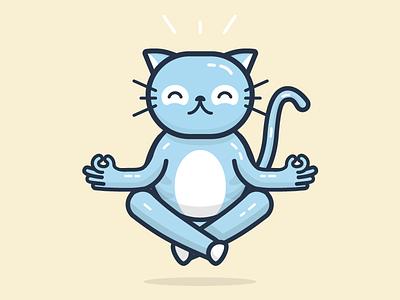 Meditation Chico zen meditation cat character illustration chico