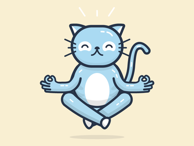 Meditation Chico zen meditation cat character illustration chico