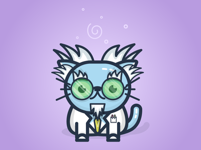Mad Scientist Chico mad scientist character cat kitty chico illustration